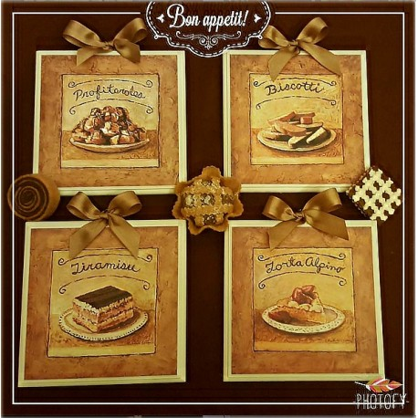 DEA REGALO SET QUADRETTI SHABBY CHIC COUNTRY ARREDAMENTI CUCINA ...