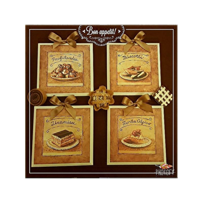 Idea regalo set quadretti shabby chic country arredamenti for Mobili cucina regalo