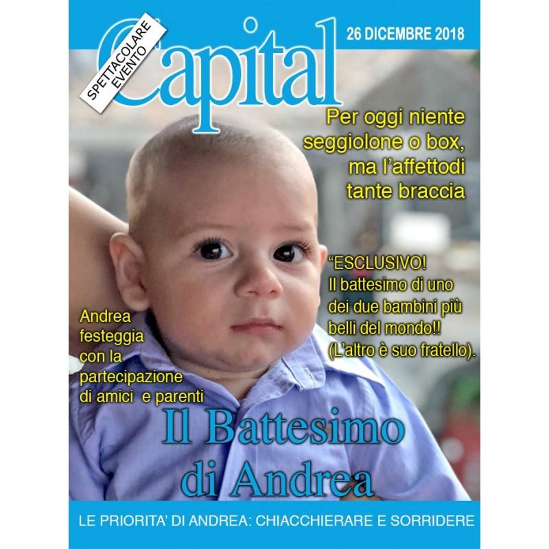 cheap for discount 58dba a1cd7 Bomboniera battesimo personalizzata con foto copertina Capital