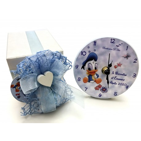 Battesimo bomboniere paperino orologio personalizzato