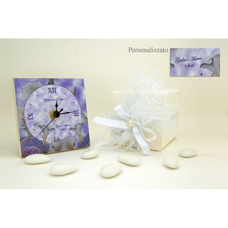 Auguri Matrimonio Orologio : Matrimonio bomboniera orologio