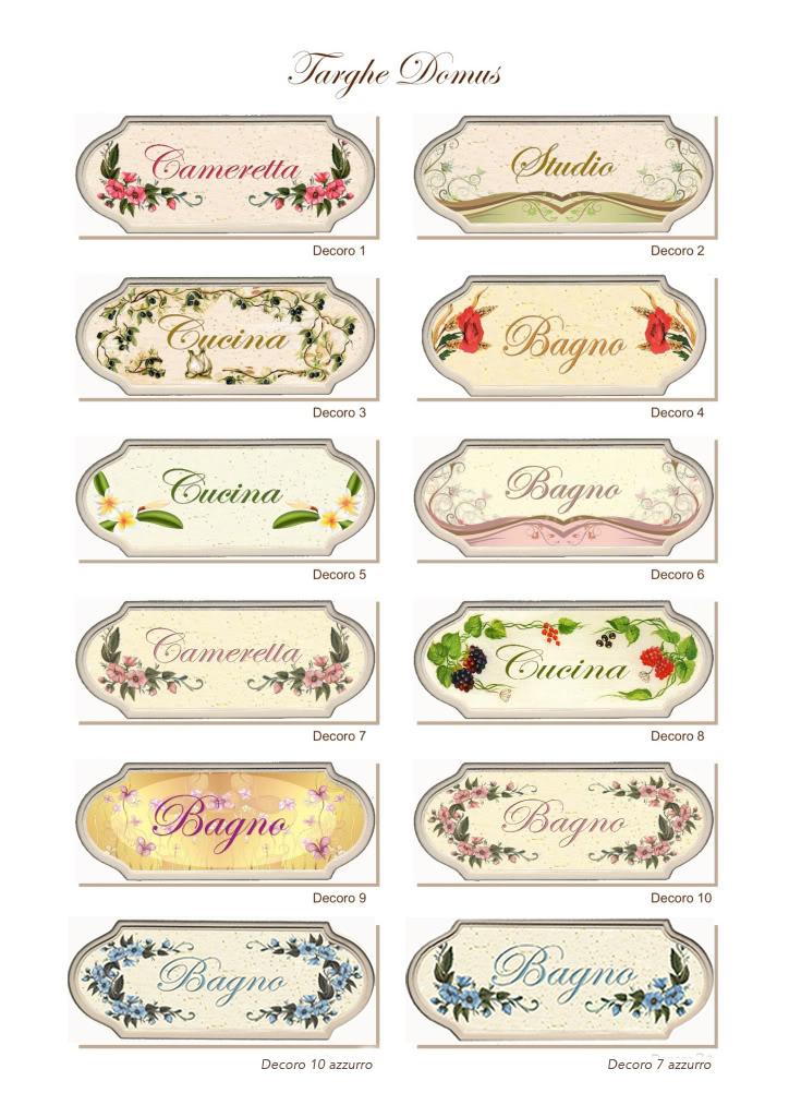 Targa porta shabby chic decori e scritte personalizzate es for Scritte in legno nomi
